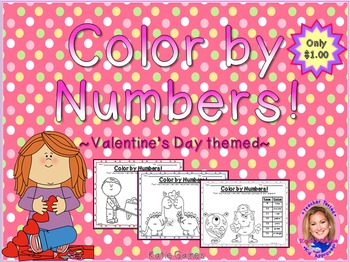 Color By Numbers: Valentine's Day themed!