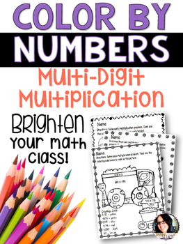 Color By Numbers for Multi-Digit Multiplication COMMON CORE ALIGNED
