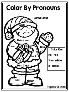 Color By Pronouns: Christmas Edition