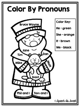 Color By Pronouns: Groundhog's Day FREEBIE