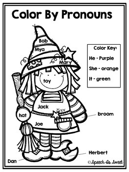 Color By Pronouns: Halloween Edition