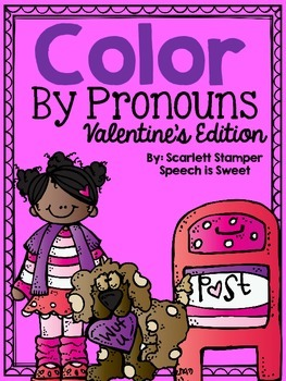 Color By Pronouns: Valentine's Day Edition