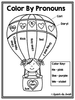 personal pronouns coloring pages - photo#22