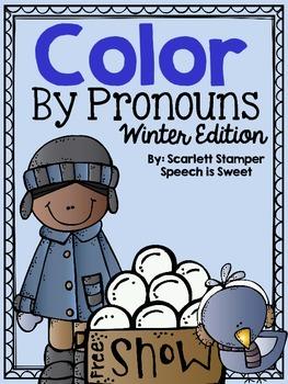 Color By Pronouns: Winter Edition