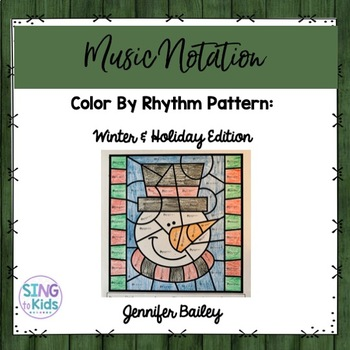 Color By Rhythm Pattern: Winter & Holiday Edition