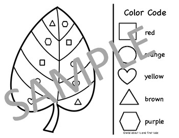 Color By Shape (Fall Edition)