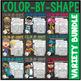 Color By Shape Worksheets: MEGA Bundle