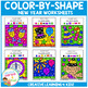 Color By Shape Worksheets: New Years