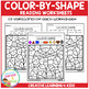 Color By Shape Worksheets: Reading