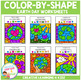 Color By Shape Worksheets: Earth Day