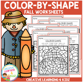 Color By Shape Worksheets: Fall
