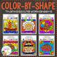 Color By Shape Worksheets: Holiday Bundle