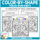 Color By Shape Worksheets: Pirates