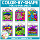 Color By Shapes Worksheets: Pirates