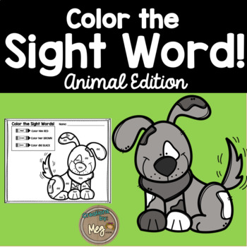 Color By Sight Word {Animal Edition}
