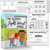 Christmas  Color By Sight Word - Christmas Activities for Kindergarten