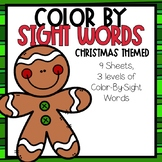 Color-By-Sight Word Christmas Themed
