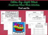 Color By Sight Word Christmas Word Work Activities Print and Go!