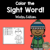 Color By Sight Word For Kindergarten {Winter Edition}