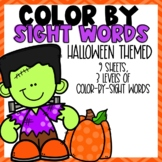Color-By-Sight Word Halloween Themed