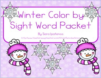 Color By Sight Word Practice Packet: Winter Theme