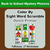 Color By Sight Word Scramble - Back To School Mystery Pict