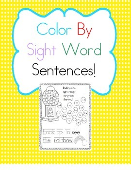 Color By Sight Word Sentences