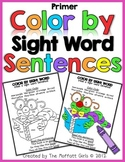 Color By Sight Word Sentences (Primer Edition)
