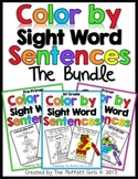 Color By Sight Word Sentences (The Bundle)