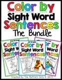 Color By Sight Word Sentences (The Bundle)