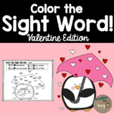 Color By Sight Word for Kindergarten {Valentine Edition}