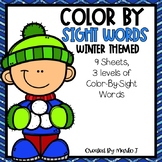 Color-By-Sight Word Winter Themed