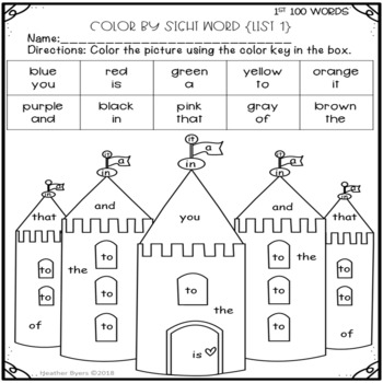 the word gerbil coloring pages | Color By Sight Word {coloring pages} Fry's first 100 words ...