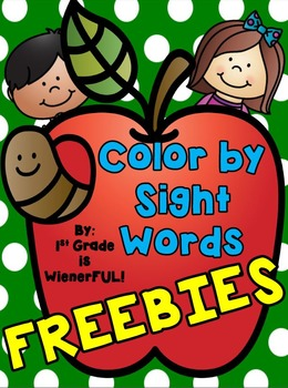 Color By Sight Words~ FREEBIES!  Great for 1st-2nd Grades ENJOY! :o)