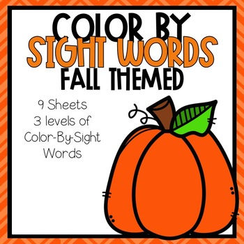 Color-By-Sight Words Fall Themed