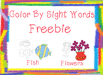 Color By Sight Words Freebie