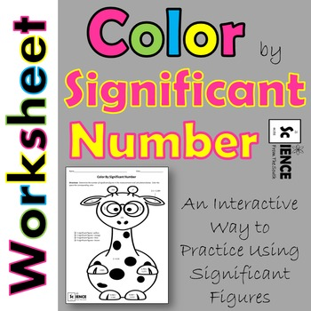 Significant Figures Color by Number Giraffe Worksheet