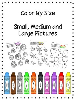 Color By Size No Prep Worksheets