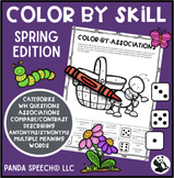 Color By Skill NO Prep Language Pack! Spring Edition