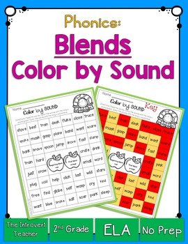 Color By Sound! Consonant Blends