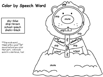Color By Speech Word for /S/ Blends by slp10 | Teachers Pay Teachers