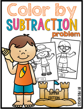 Color By Subtraction Problem-Summer Edition