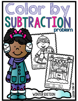 Color By Subtraction Problem-Winter Edition