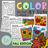 Color By Sum (1-Digit Addends): Fall Edition