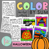 Color By Sum (1-Digit Addends): Halloween Edition
