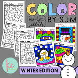 Color By Sum (1-Digit Addends): Winter Edition