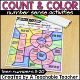 Color By TEEN Number Sense Activities