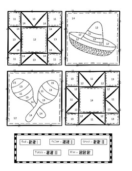 Color By Tally - Cinco de Mayo Quilt (Numbers 1-20)