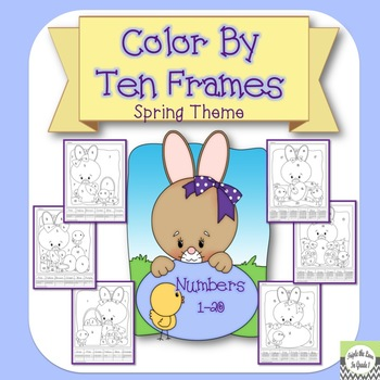 Color By Ten Frame - Spring Theme