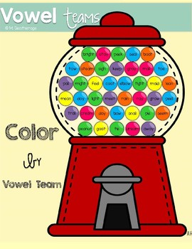Color By Vowel Team Practice Page- FREEBIE!